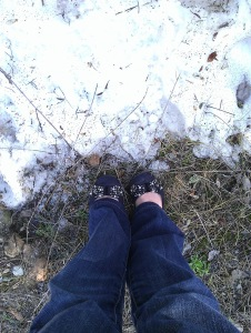 Snow & Ballet Flats = Priceless